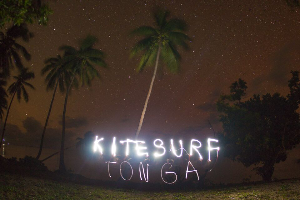 Kitesurfing in Tonga night